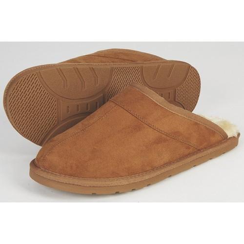 Men's Scuff Slippers  Light Brown