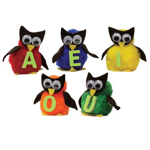 Monkey Mitt Set Vowel Owls