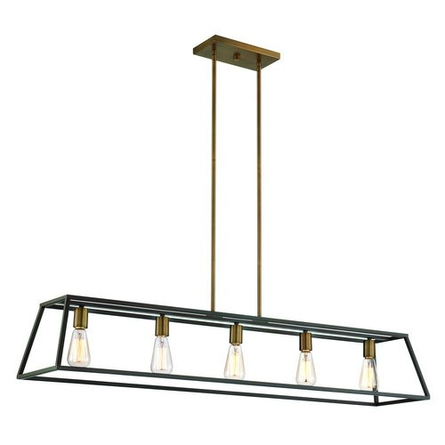 Hinkley Lighting 3335 5 Light 1 Tier Linear Chandelier from the Fulton Collection