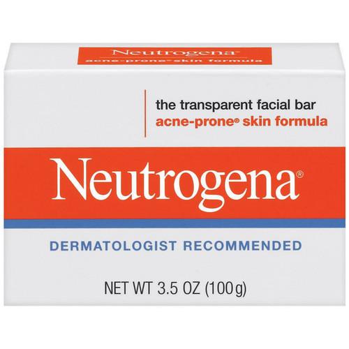 Neutrogena Facial Cleansing Bar, Acne-Prone Skin Formula, 3.5 oz (100 g)