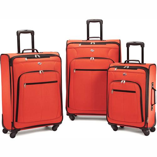 American Tourister Pop Plus 3 Piece Lightweight Spinner Luggage Set (Orange) - 64590-1641