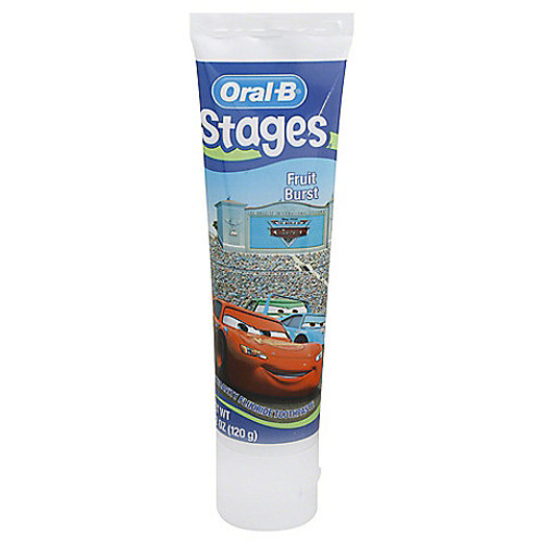 Oral-B Stages Cars 4.2 oz. Toothpaste in Fruit Burst Flavor