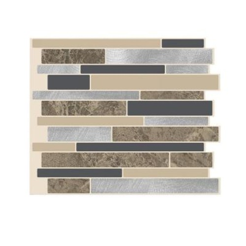 Smart Tiles Milano Sasso 11.55 in. W x 9.65 in. H Peel and Stick Decorative Mosaic Wall Tile Backsplash (12-Pack)