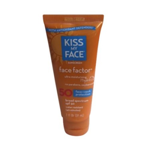 Kiss My Face Face Factor Face + Neck Sunscreen SPF 50, 2 OZ [2-Ounce]