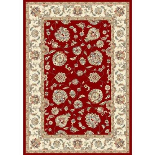 Judith Red/Ivory 9 ft. 2 in. x 12 ft. 10 in. Indoor Area Rug