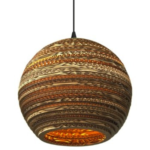 Moon Scraplight Pendant [Light Option : E26 Medium Base]
