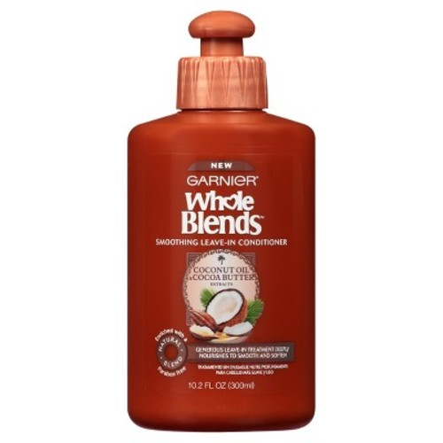 Garnier Whole Blends Coconut Oil & Cocoa Butter Extracts Smoothing Leave In Conditioner - 10.2oz