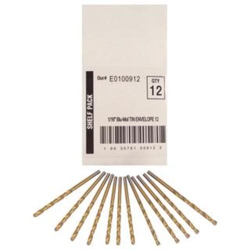 Disston Tool BLU-MOL 1/16 inch Titanium Drill Bits (Pack of 12)
