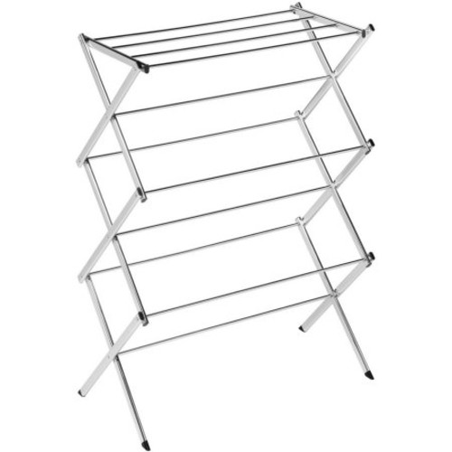 Honey Can Do Commercial Large Folding Steel Accordion Drying Rack, Chrome