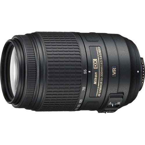 Nikon AF-S DX NIKKOR 55-300mm f/4.5-5.6G ED VR Black Lens (2197) for Nikon Digital SLR