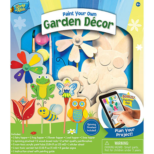 Masterpieces Works of Ahhh Garden Decor Wood Craft and Paint Kit