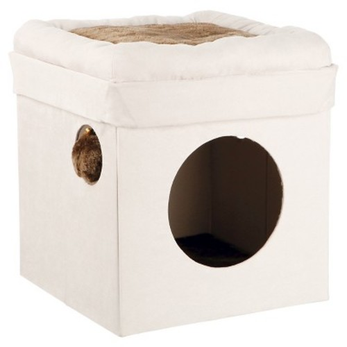 Trixie Pet Products Miguel Fold-and-Store Collapsible Cat Condo - Gray