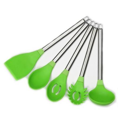 Chef Craft 5 Piece Silicone Kitchen Utensil Set; Green