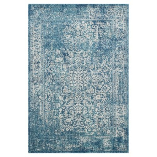 Safavieh Evoke Blue/Ivory 4 ft. x 6 ft. Area Rug