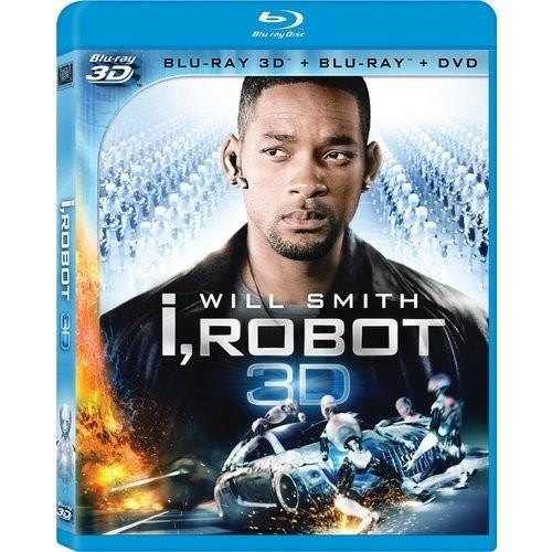 I, Robot (Two-Disc Combo: Blu-ray 3D/ Blu-ray + DVD): Will Smith, Bridget Moynahan, Bruce Greenwood, James Cromwell, Chi McBride, Alan Tudyk, Adrian Ricard, Alex Proyas: Movies & TV