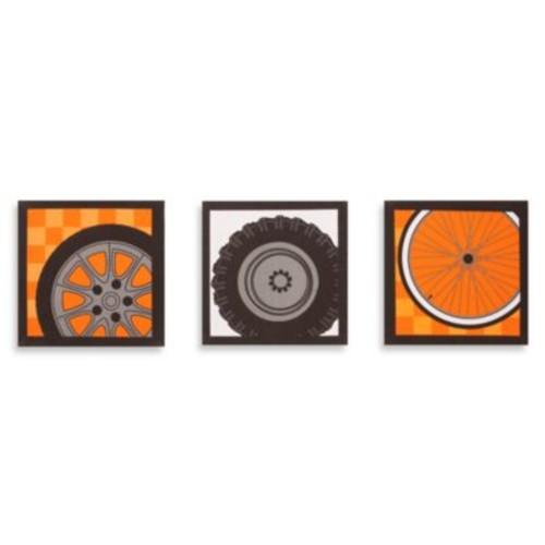 One Grace Place Teyo's Tires Tires 3-Piece Canvas Art