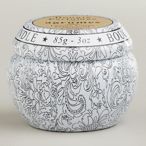 Citrus Travel Candle Tin