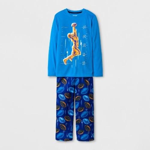 Boys' Long Sleeve Football Print Pajama Set - Cat & Jack Blue