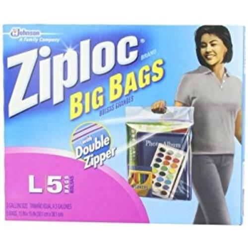 Ziploc Big Bags 3 Gal. Heavy Duty Clear Plastic 15