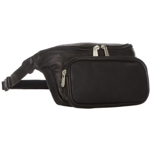 Piel Leather Large Classic Waist Bag, Black, One Size [Black]