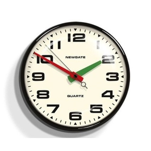 Brixton Wall Clock - Black - Newgate Clocks