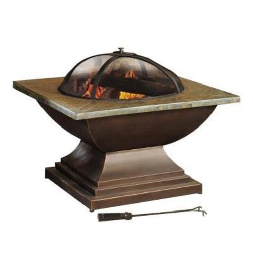 Sunjoy Fireplace. Crossfield 36 in. Slate Fire Pit