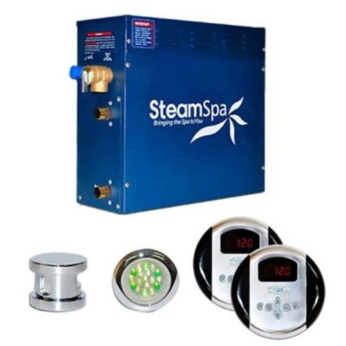 Steam Spa SteamSpa Royal 9 KW QuickStart Steam Bath Generator Package; Chrome