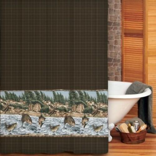 Kimlor Mills River Fishing Shower Curtain