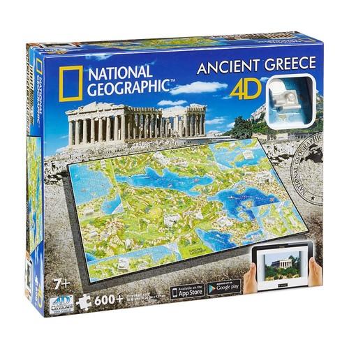4D Cityscape: National Geographic - Ancient Greece 600-Piece 3D Time Puzzle by 4D Cityscape