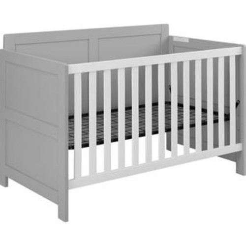 Ameriwood Home Willow Lake Crib in Soft Gray White