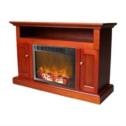 Cambridge CAM5021-2 Sorrento Fireplace Mantel with Electronic Fireplace Insert (ATG_CAM50212CHR), Cherry
