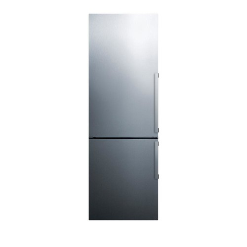 Summit Appliance 24 in. 11 cu. ft. Bottom Freezer Refrigerator in Stainless Steel, Counter Depth