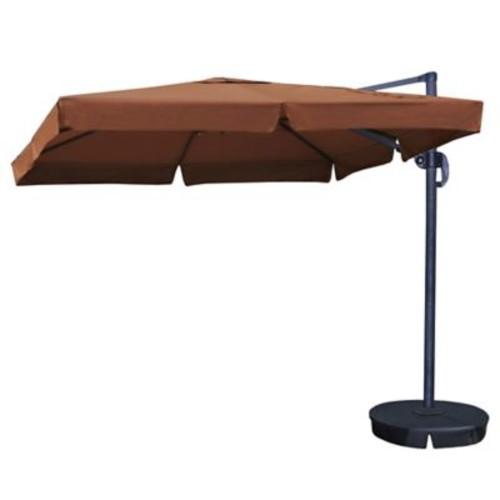Blue Wave Santorini II 10' Square Cantilever Umbrella With Valance, Terra Cotta Sunbrella Acrylic