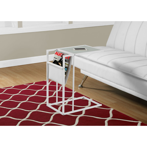 Monarch Specialties Accent Table - Metal With A Magazine Rack
