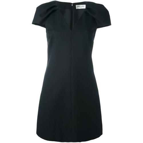 SAINT LAURENT V-Neck Mini Dress