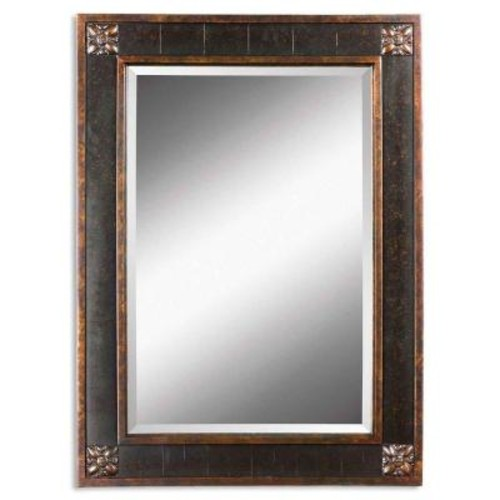 Global Direct 38 in. x 28 in. Black Framed Mirror