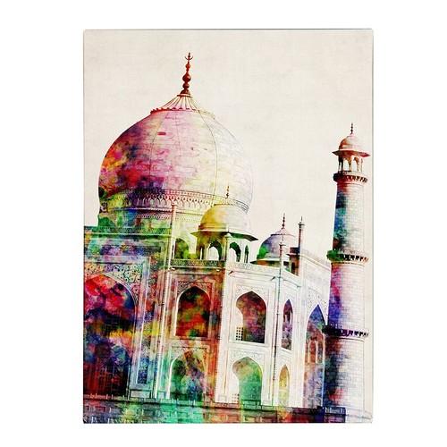 Taj Mahal by Michael Tompsett, 14 by 19-Inch Canvas Wall Art