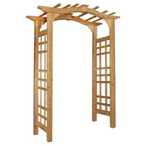 Westwood Arbor Garden Decorative Structures - Brown - Arbors - New England Arbors