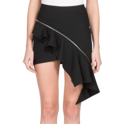 SAINT LAURENT Wool Sable Mini Skirt