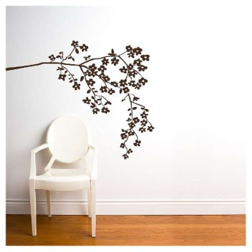 Coastline Blossoms Wall Decal - Brown