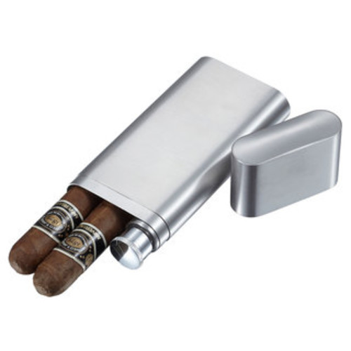 Visol Tres Stainless Steel Three Cigar Holder