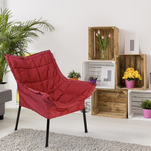 Casual Home Black Frame/Burgundy Cushion Milano Chair