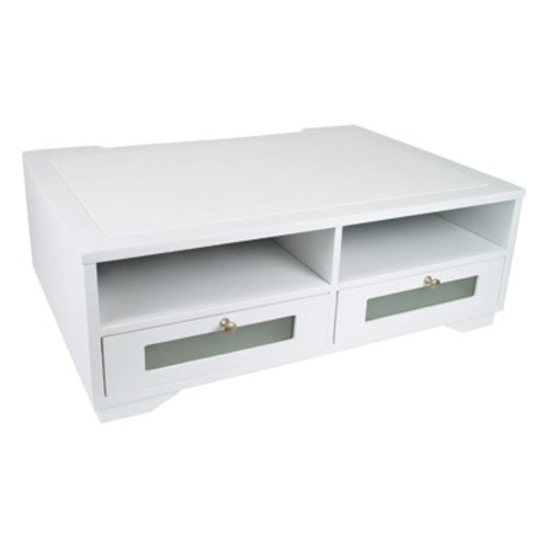 Victor Wood Pure White Collection Printer Stand, W1130