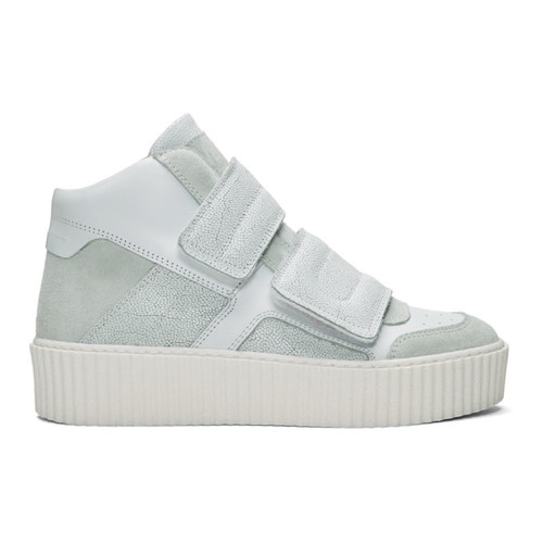 MM6 MAISON MARTIN MARGIELA White Platform High-Top Sneakers