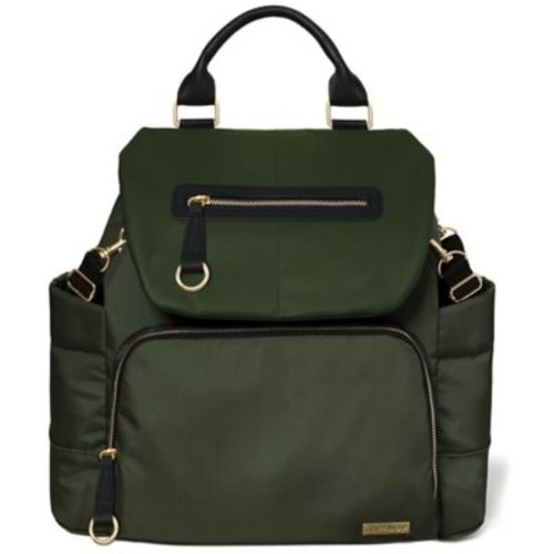 SKIP*HOP Chelsea Downtown Chic Diaper Backpack in Olive Green