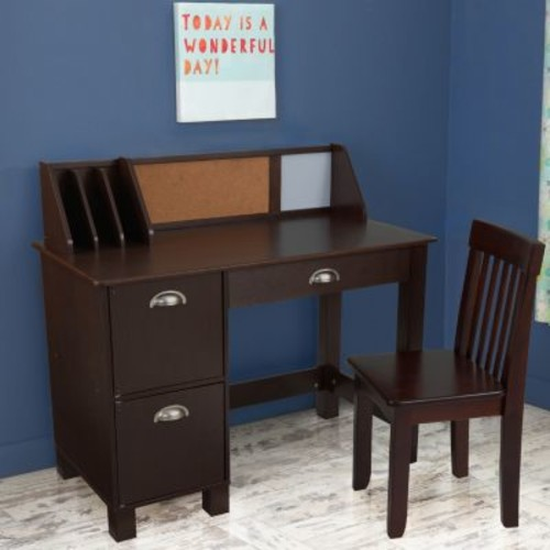 KidKraft Study Desk with Chair - Espresso