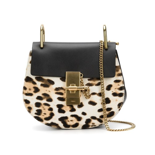 CHLOÉ 'Drew' Leopard Shoulder Bag
