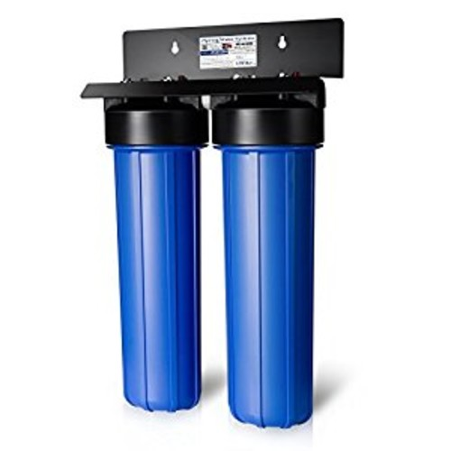 iSpring WGB22BM 2-Stage Big Blue Whole House Water Filtration System with 20-Inch Carbon Block and Iron Manganese Reducing Filter [Iron, Manganese Removal]