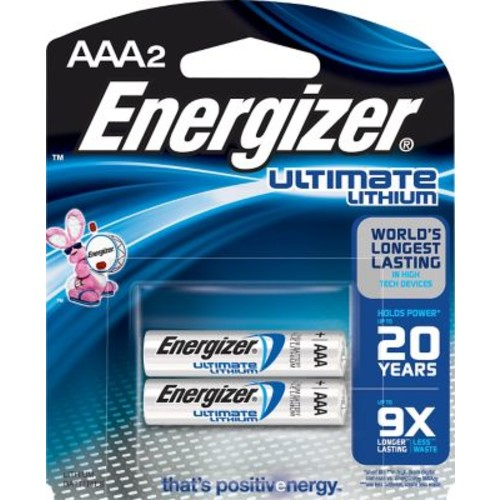 Energizer e Lithium Batteries, AAA, 2/Pack