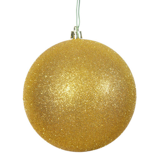 Gold 4.75-inch Glitter Ball Ornament (Pack of 4)